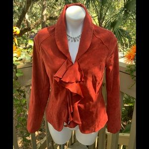 Pumpkin Color Blazer Cato SZ 10 Shoulder Pads